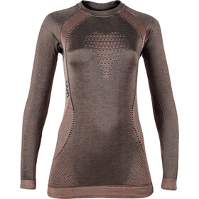 UYN Cashmere Silky UW LS Rundhalsshirt Damen celebrity gold